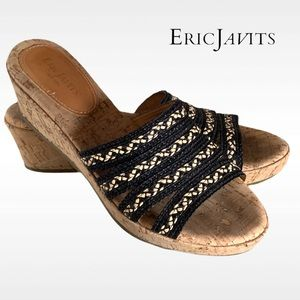 Shoes - ERIC JAVITS RAFFIA SHOES SANDALS WEDGES SZ 9 N